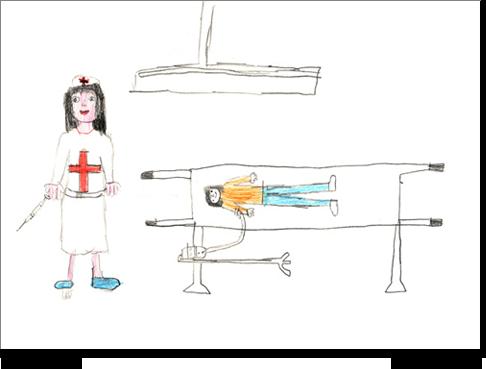Il disegno di Angelica, 7 anni.