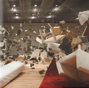 L'installazione Show Room di Los Carpinteros.
