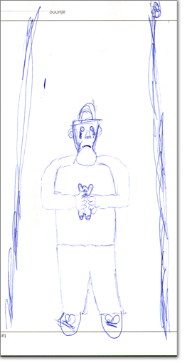 """Uno dei disegni in concorso a """"La scuola e il bullo""""."""