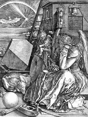 """L'incisione di Albrecht Dürer intitolata """"Melencolia I"""", realizzata nel 1514. Fonte: it.wikipedia.org."""