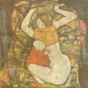 """Il dipinto di Egon Schiele dal titolo """"La madre cieca"""" del 1914"""