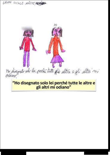 Elena, 12 anni, disegna i suoi amici.